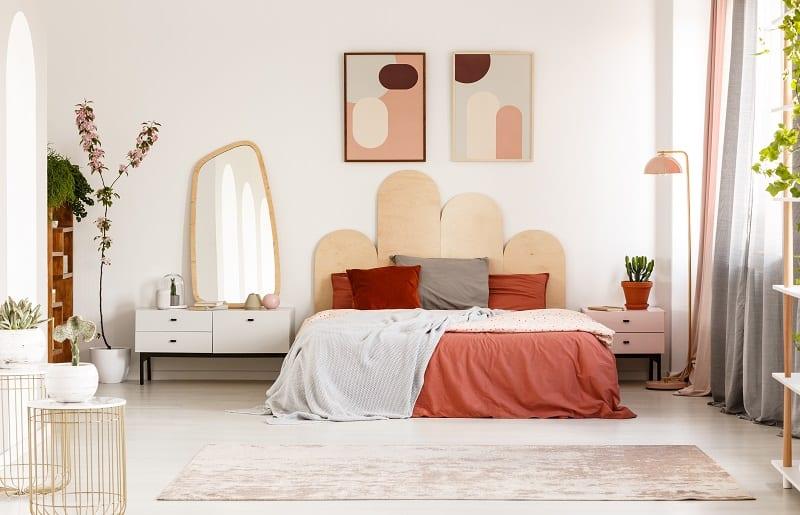 decoração para quarto com formas organicas