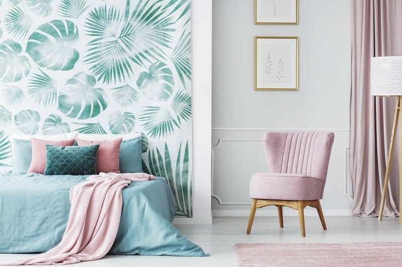 decoração tropical para quarto