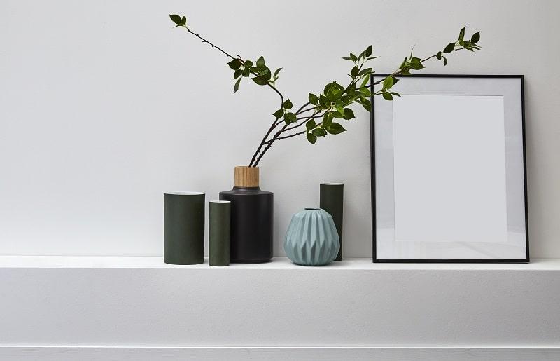 plantas artificiais para sala no vaso