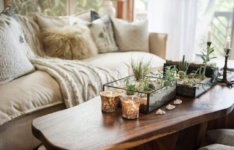 plantas artificiais para sala centro de mesa